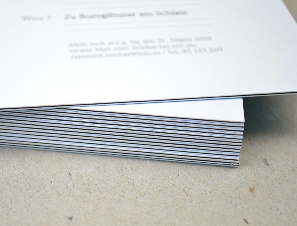 Einladungskarten auf Metapaper Multiloft 925g/m²
