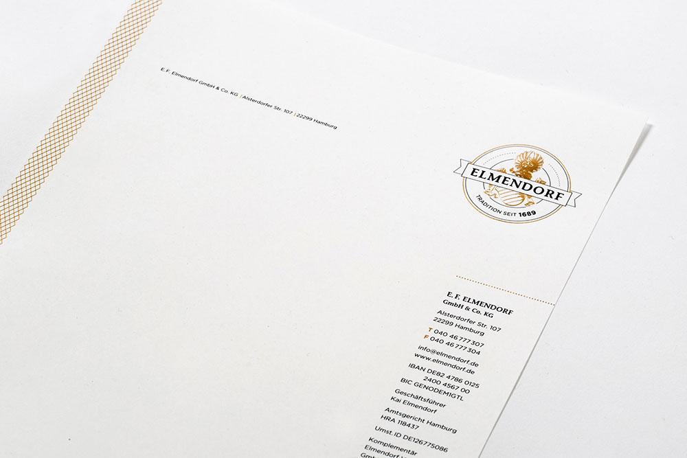 Veredeltes Etikett & Geschäftsausstattung Elmendorf KORN H