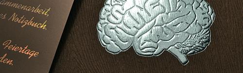 Prägefoliendruck Gehirn