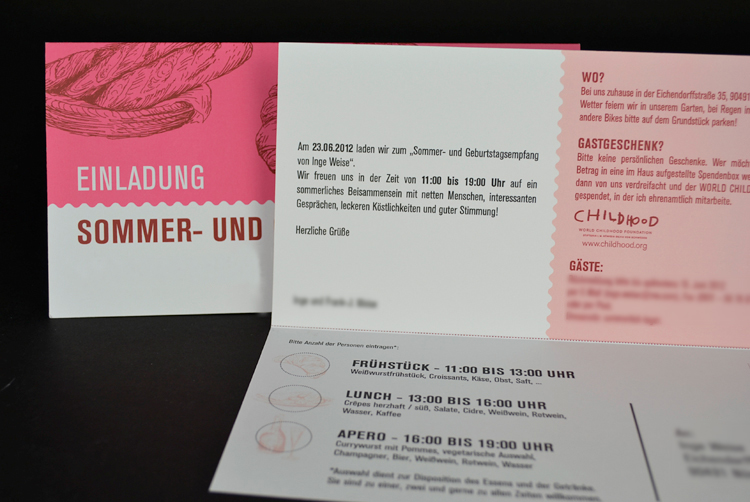 Liebling des Monats: Einladungskarte mit Heißfolienprägung