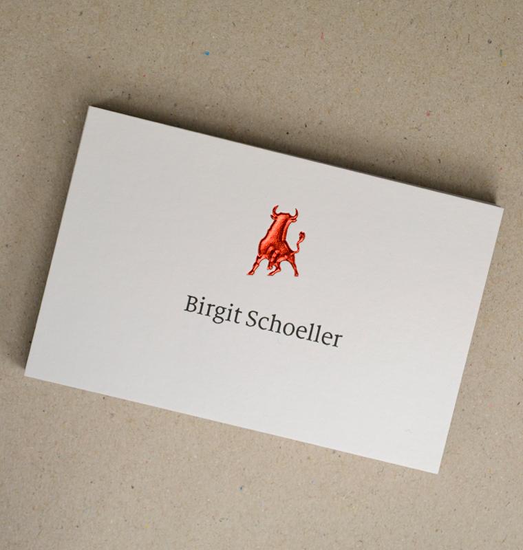 Dicker! Visitenkarten mit Heißfolienprägung auf 925 g/m² Multiloft