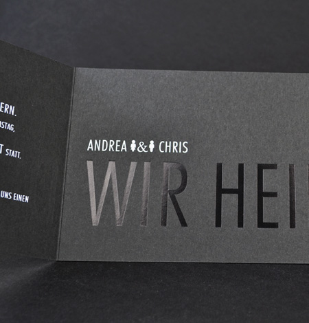 Hochzeits Einladungskarten