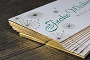 Weihnachtskarte mit Goldschnitt
