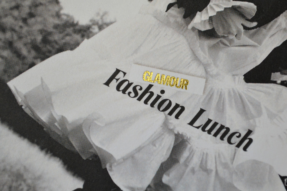 Einladungskarte Fashion Lunch auf Metapaper Multiloft