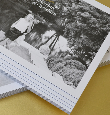 Hochzeitskarte mit Heißfolienprägung & Metapaper Multiloft