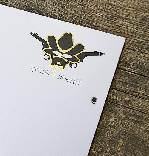 Briefbogen mit Heißfolienprägung & Blindprägung