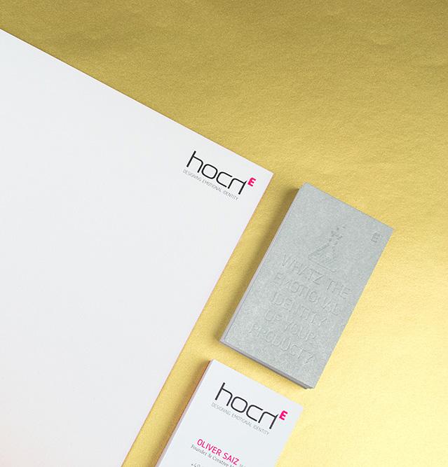 Briefbogen & Visitenkarte für Designbüro hoch E