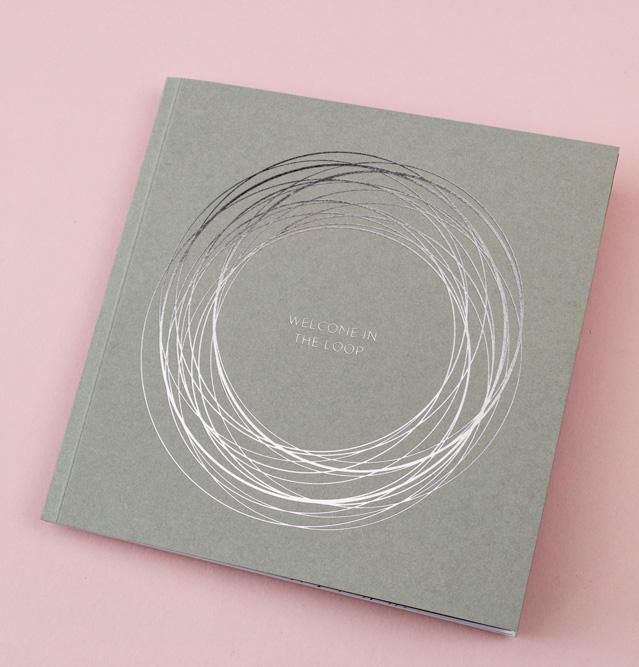 Broschüre mit silberner Heißfolie – The Loop