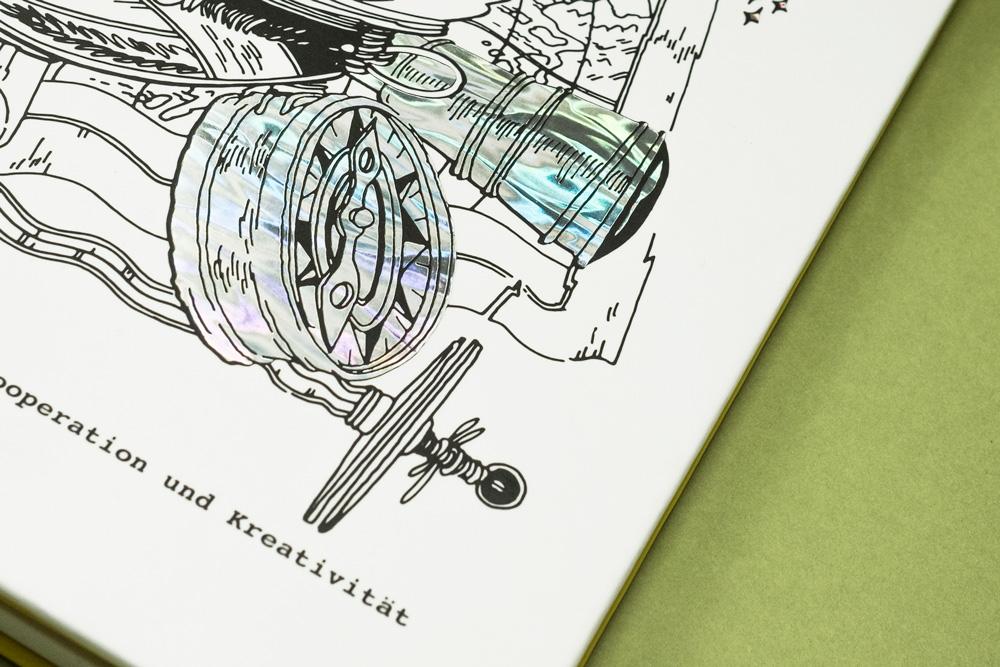 Illustriert und veredelt – Buchprojekt quatschen.de